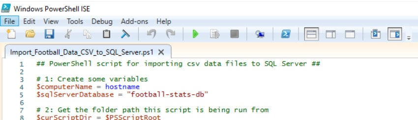 Using PowerShell to porcess football data