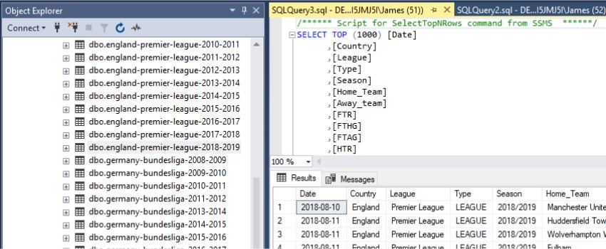 sql server dbms select screen image
